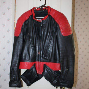 Vintage Hein Gericke Leather Motorcycle Jacket 50